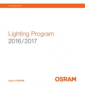 Catálogo Osram de iluminação 2016- 2017