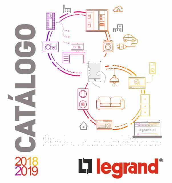 Legrand Catálogo Geral 2018-2019. Material elétrico Legrand. RX3. Quadros Practibox S. Niloé Step. Green Up - Recarga de veículos elétricos.